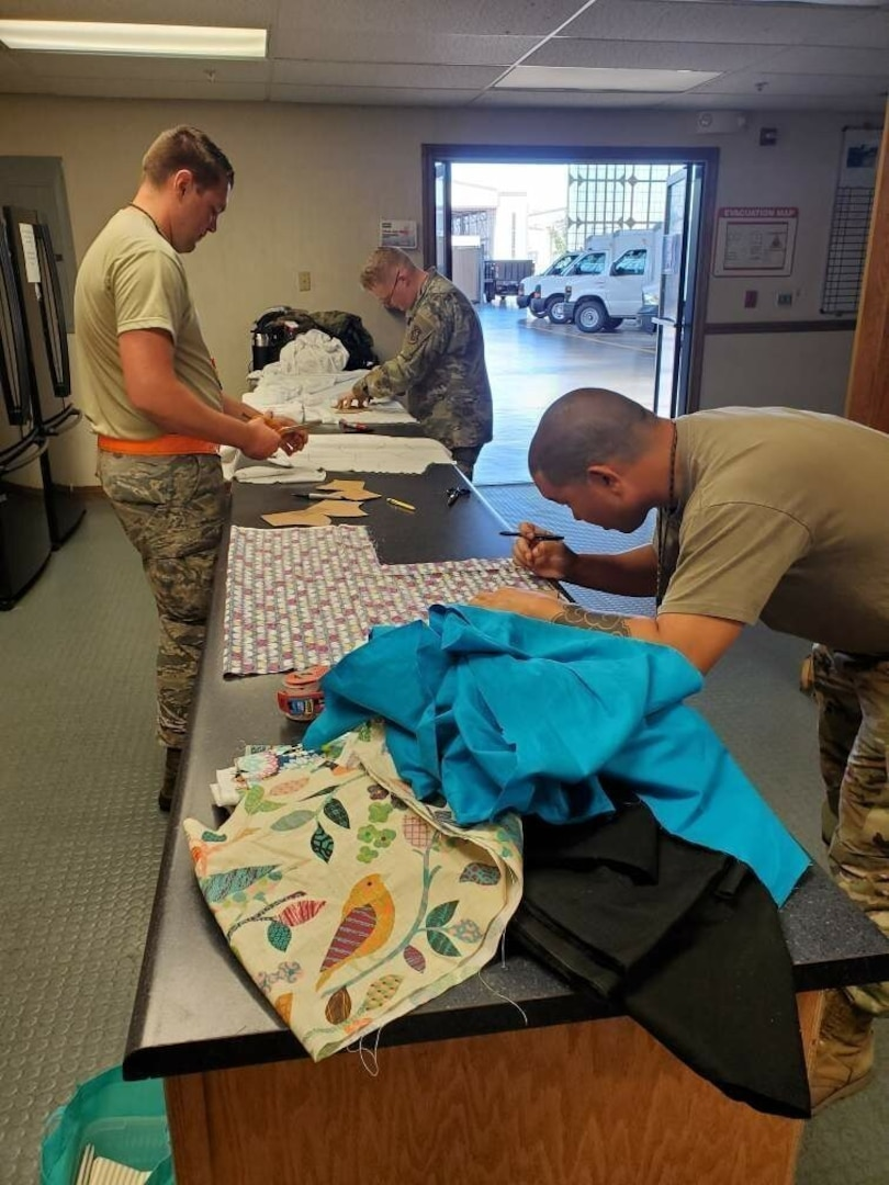 735th Air Mobility Squadron Makes Masks for Medical Response