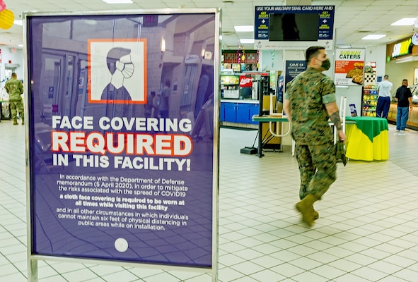 Commissaries and Army and Air Force Exchange Service facilities on Joint Base San Antonio now require all store employees and customers to wear some form of face covering in order to enter the store as of April 10.