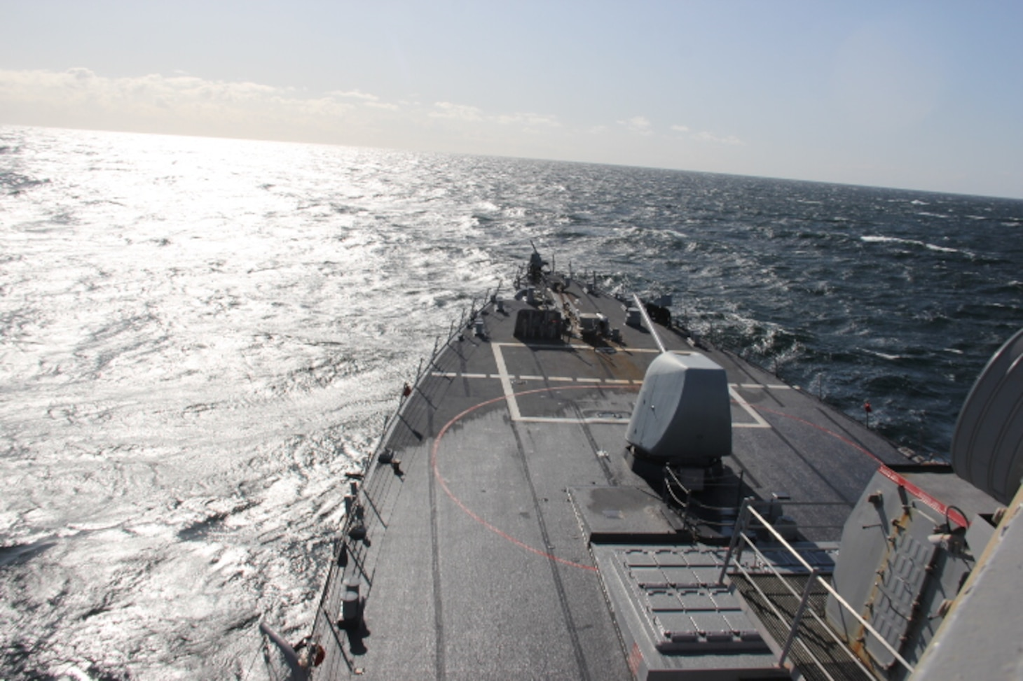 USS Donald Cook in the Baltic Sea