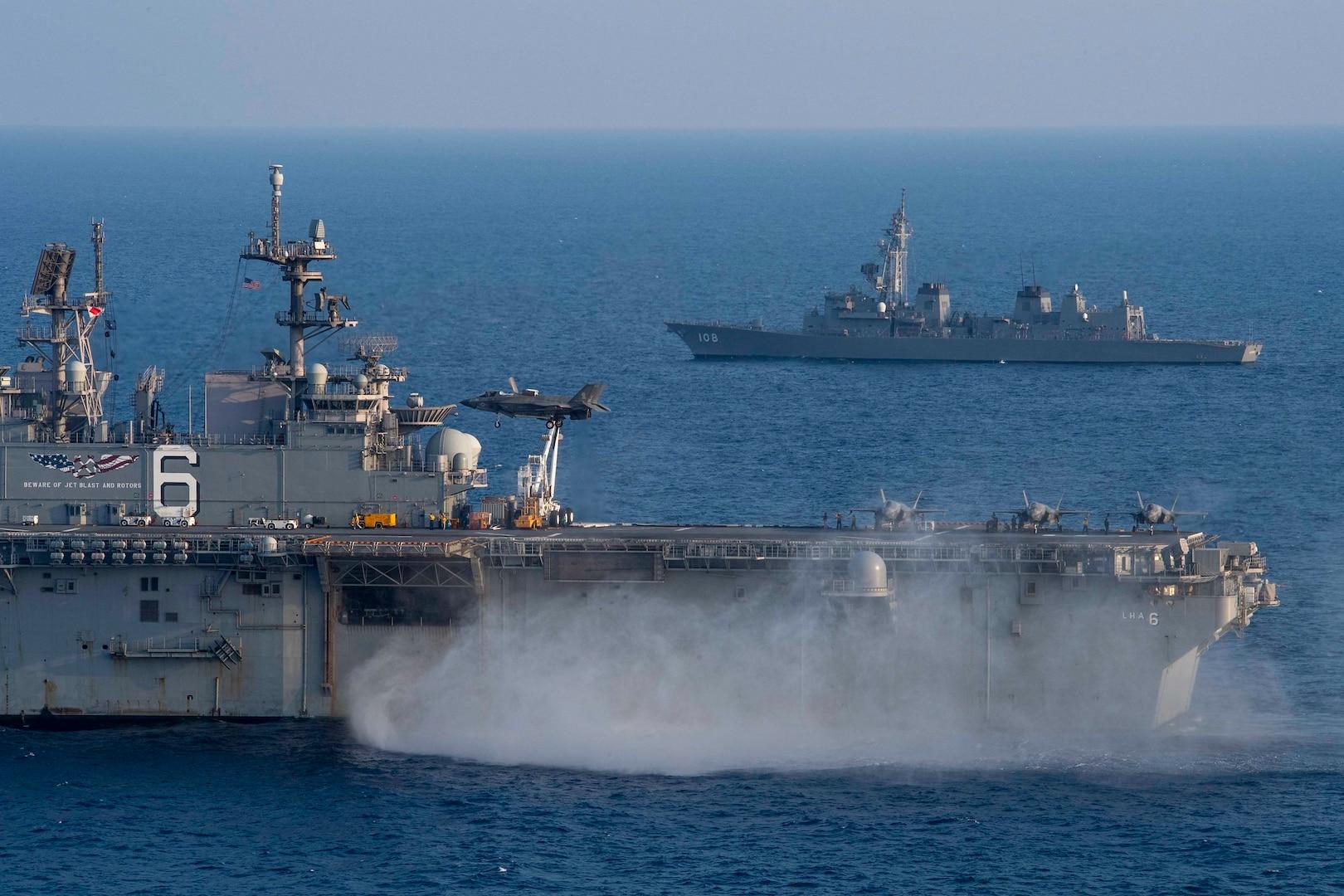 America, Akebono Sail Together in East China Sea