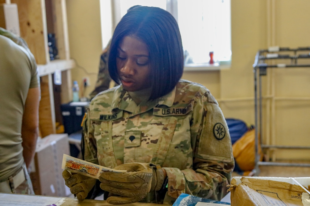 Army mail carriers deliver — every time
