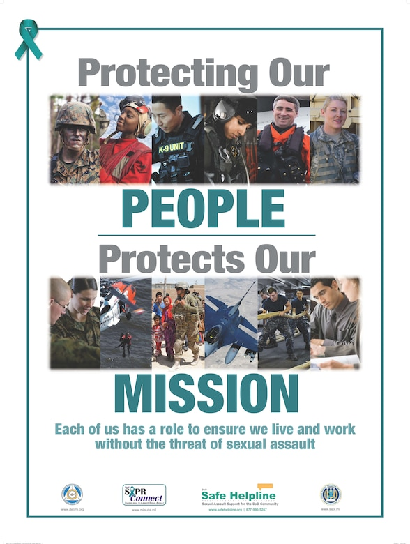 Protecting our people protects our mission graphic for sexual assault awareness and prevention month