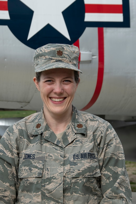 Maj. Barbara Jones, 104th Fighter Wing Public Health Officer, serves to protect Airmen on base and in our community. The 104th Fighter Wing Medical Group Public Health team is being led by Jones in the COVID-19 response. (U.S. Air National Guard Photo by Senior Master Sgt. Julie Avey)