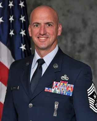 Command chief CMSgt David Flosi, Air Force Sustainment Center