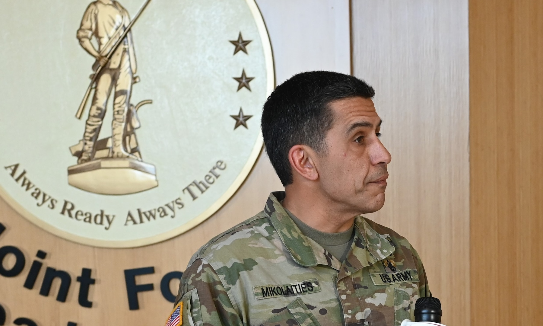 Maj. Gen. David Mikolaities, adjutant general, New Hampshire National Guard, addresses the ongoing COVID-19 crisis, March 31, 2020.