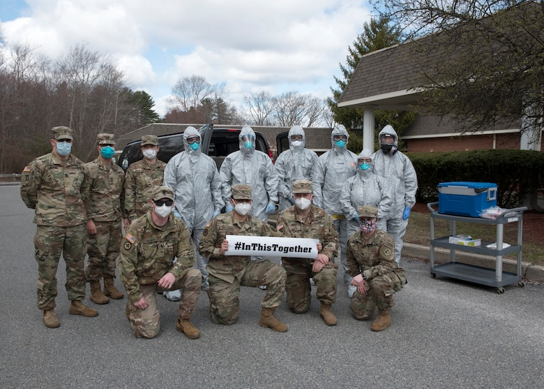 Soldiers and Airmen from the Massachusetts National Guard