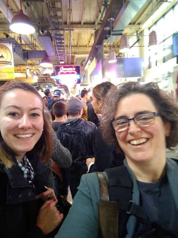 Left to right, Taylor Flaxington and Lt. Col. Amy Cox in Philadelphia, PA for the American Society for Engineering Management 2019 Annual International Conference. (Courtesy Photo)