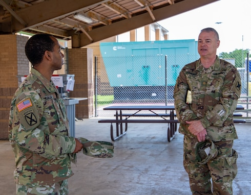 Chaplain assists 377th Theater Sustainment Command with religious support