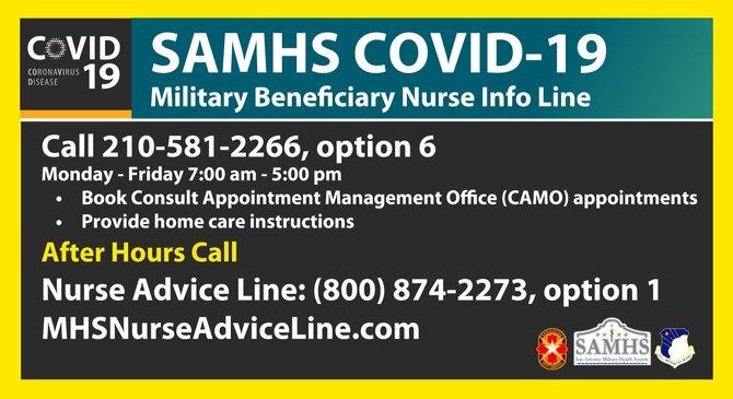 SAMHS COVID-19 Info Line