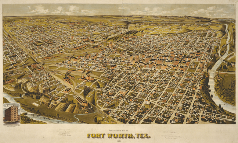Painting of Fort Worth c. 1891