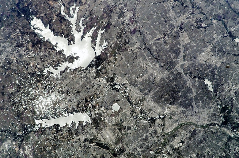 Satellite Image of Lewisville Lake