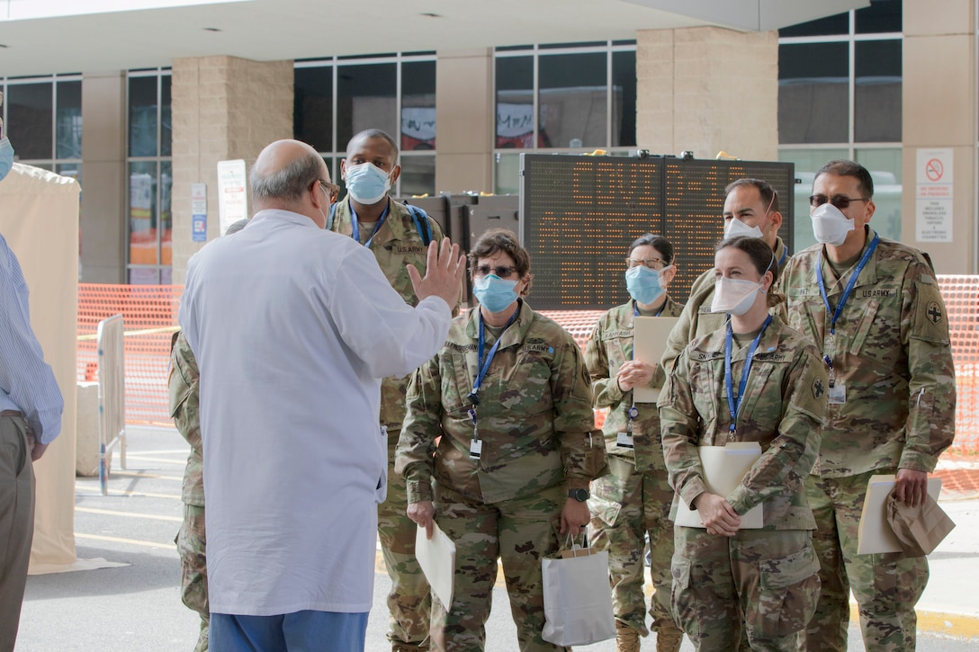 Medical task force welcomed at University Hospital in Newark for COVID response