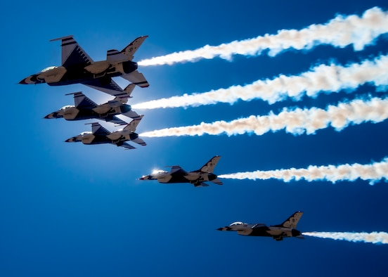 Thunderbirds fly over Las Vegas