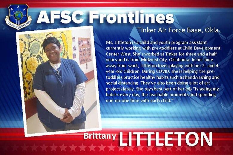 AFSC Spotlight: Meet Brittany Littleton