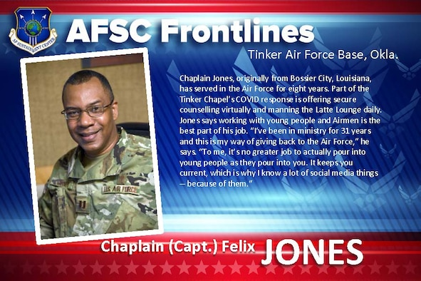 AFSC Spotlight: Meet Chaplain Felix Jones