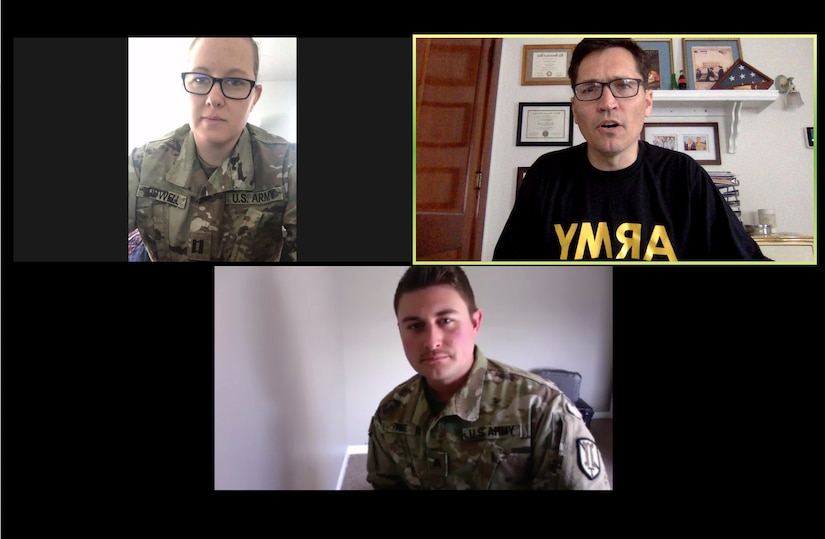 Service members assigned to the 204th Maneuver Enhancement Brigade, Utah Army National Guard, were among the first in the nation to conduct a teleworking drill April 18-19, 2020, during the COVID-19 pandemic.