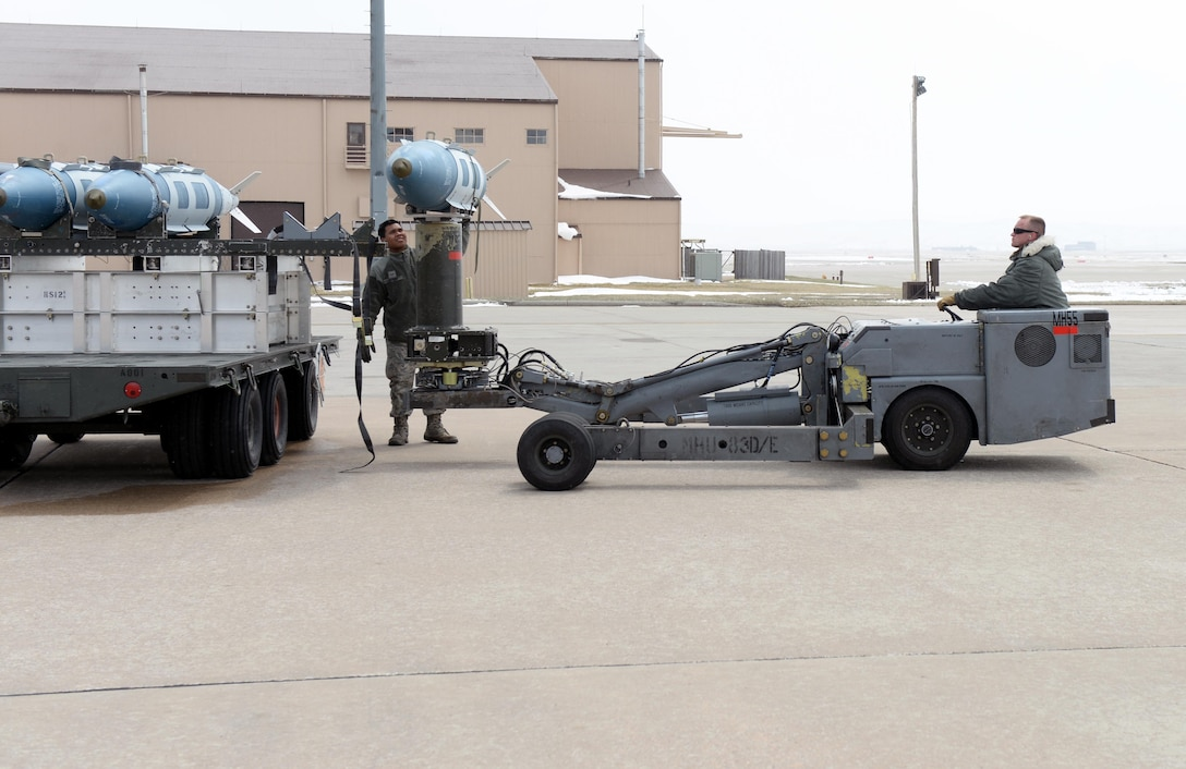 Airmen move test munitions