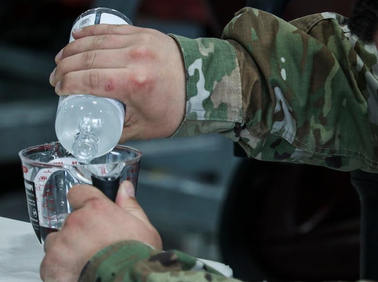 Dyess Airmen create hand sanitizer