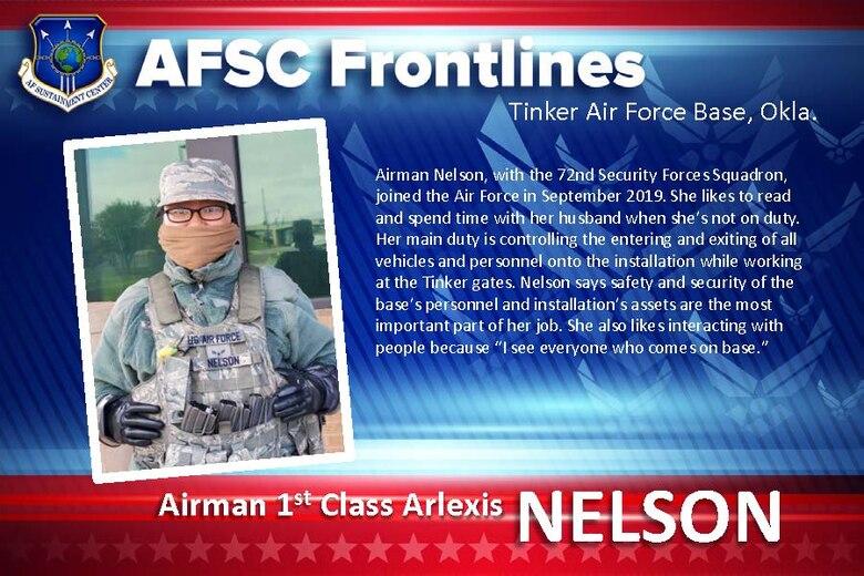 Tinker Spotlight: Airman 1st Class Arlexis Nelson