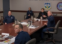 Senior leaders are briefed on Coronavirus.