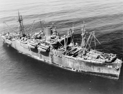 USN Navy USS George Clymer APA 27 Naval Ship Photo Print
