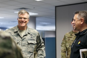 Alabama Air National Guard Leadership tours Alabama Department of Public Health facilities in downtown Montgomery on Wednesday, April 15, 2020.
