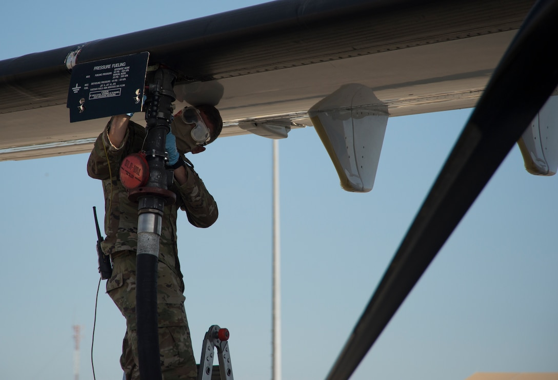 A crew chief with the 919th Special Operations Maintenance Squadron, refuels a C-146A Wolfhound
