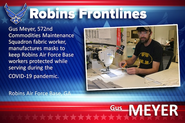 Robins Frontlines: Gus Meyer, 572nd CMXS Fabric Shop