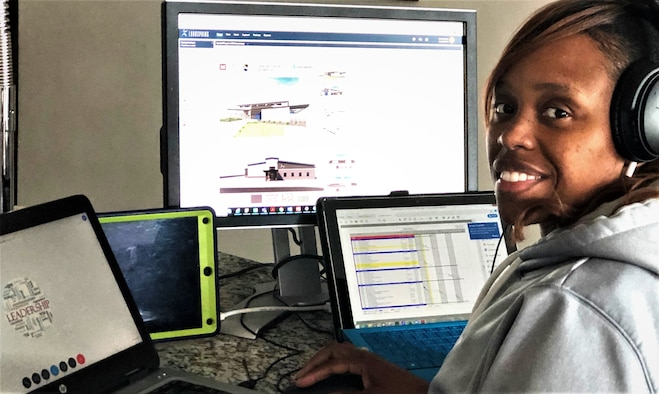 Members of the PMO are taking advantage of all the Air Force's available technology to remain connected while apart from their daily office routines.