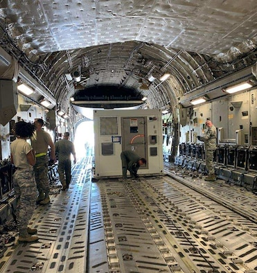 AFOTEC's Detachment 2 test team, lead by Maj. Phillip Hoyt, is at Joint Base Charleston, South Carolina testing the Portable Bio-Containment Module (PBCM) on airworthiness requirements on the C-17 aircraft along with several other key areas during this Joint Urgent Operational Need testing event. PBCM is an existing capability currently being used by the Department of State. With the urgent need to transport as many as 4,000 American citizens from overseas per month, PBCM is one of many options the Air Force is considering to transport infectious patients. This testing is just one of a series of testing that AFOTEC is conducting to support the current COVID-19 pandemic.