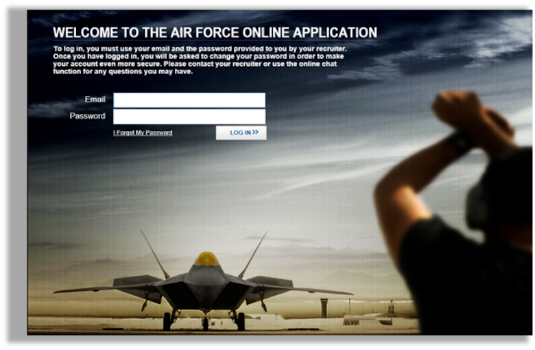 The Air Force Commission and Enlistment Portal was created by Air Force Recruiting Service to give recruits the ability to fill out their own information to cut down on errors and reduce the delays as part of the security investigation and help with the creation of personnel files