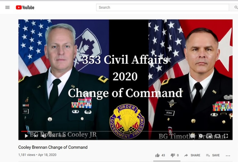 353RD CACOM conducts virtual change of command