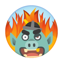 a graphic of a troll that likes to inflame people