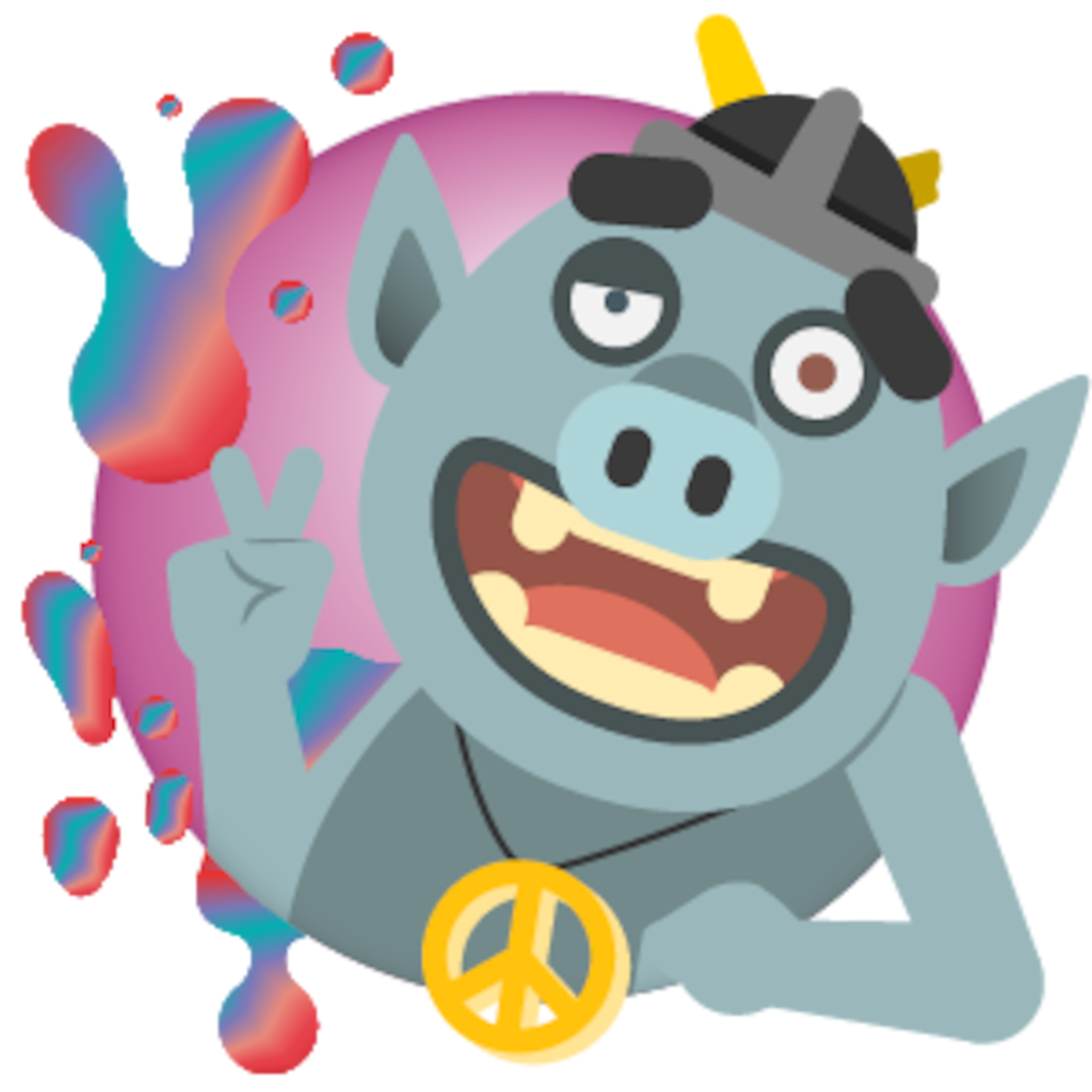 a graphic of a peacemaker troll