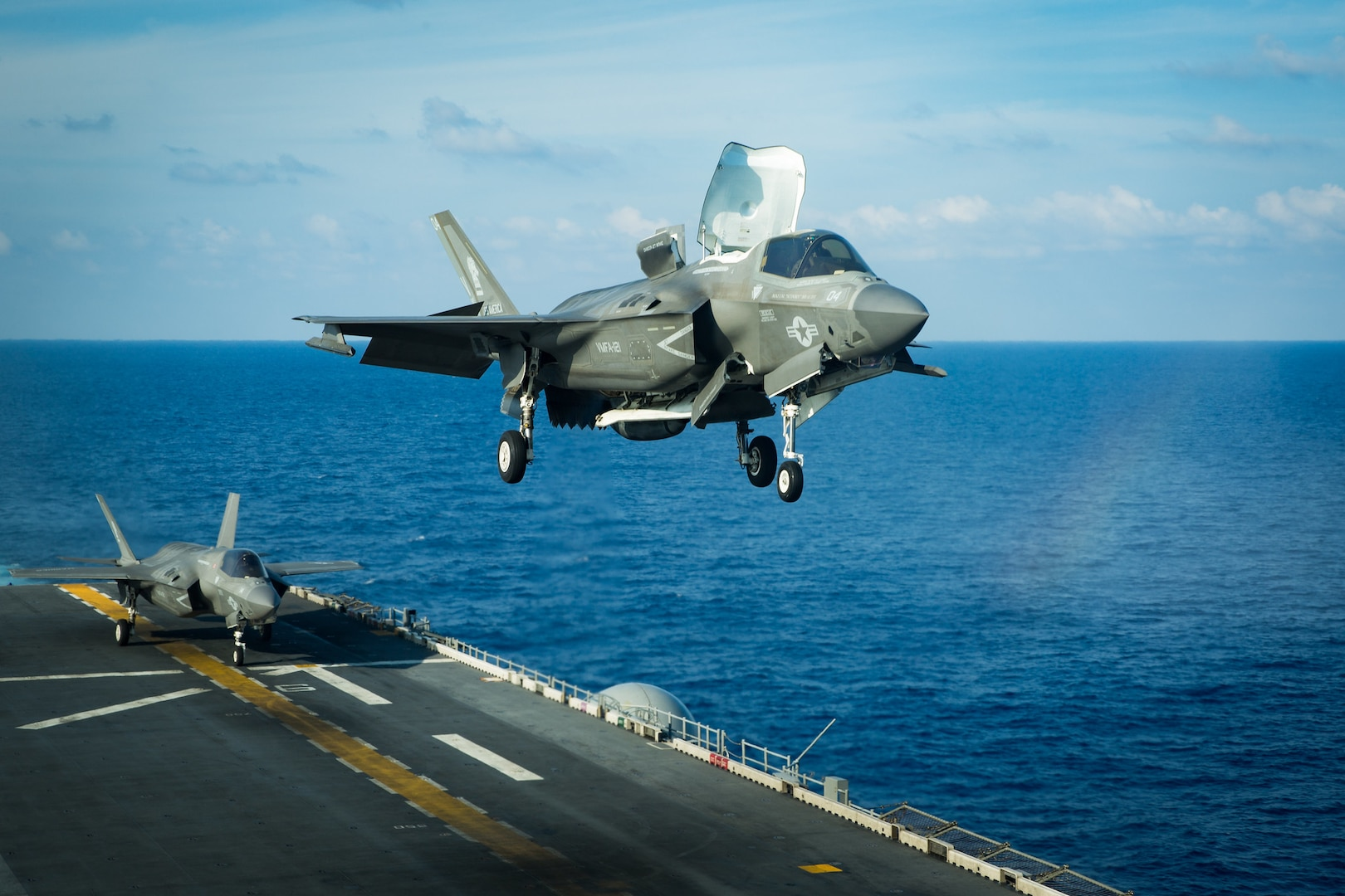 USS America, 31st MEU with F-35B fighter Aircraft Operate in South China Sea