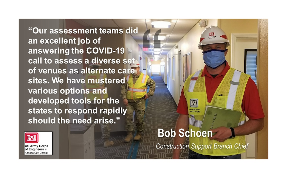 In support of COVID-19 we have completed over 50 site assessments/investigations in the states of Missouri and Kansas.