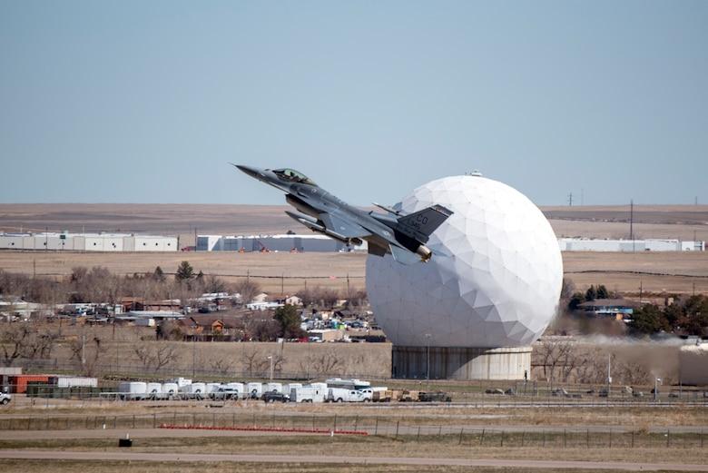 F-16 taking off