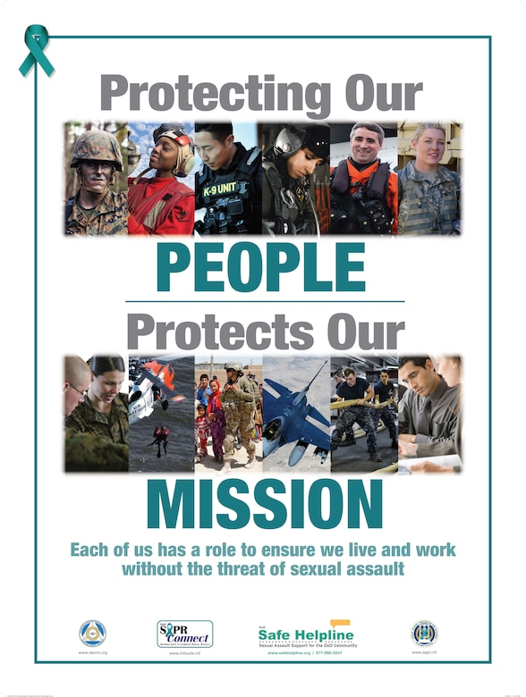 Sexual Assault Prevention Month poster (Courtesy Graphic)