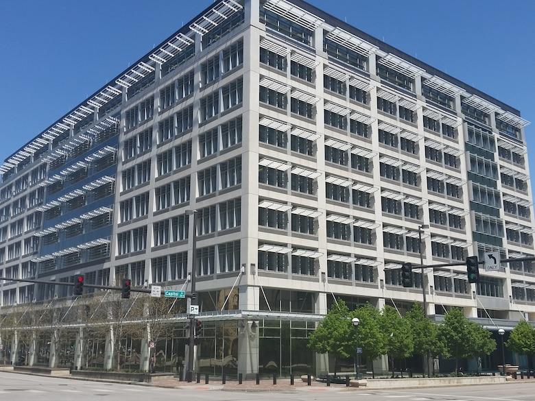 The renovated Edward Zorinksy Federal Building, Omaha, Nebraska April 22, 2016.