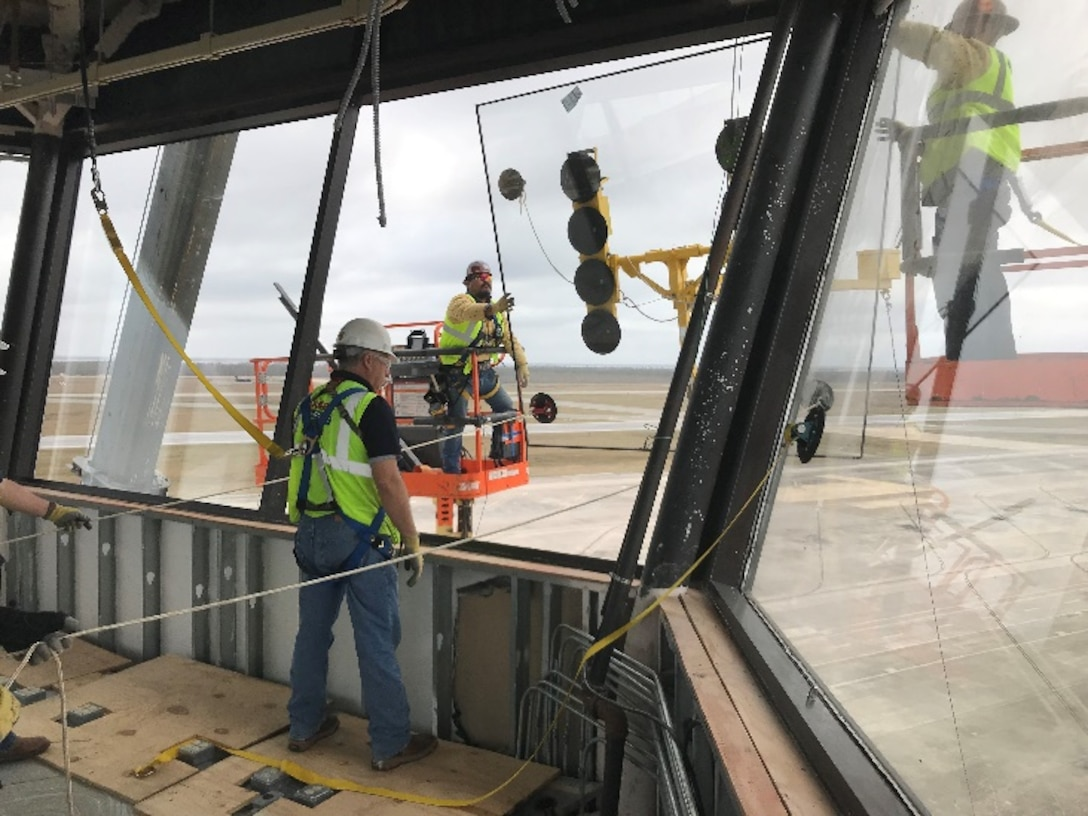 In Feb. 2019, four months after Hurricane Michael devastated Tyndall Air Force Base, Fla., contractors supporting hurricane recovery efforts