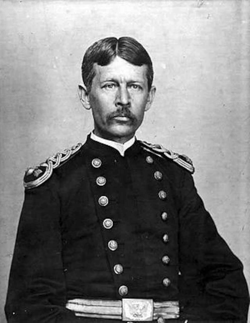 Formal portrait of an Army officer in the late 19th century.