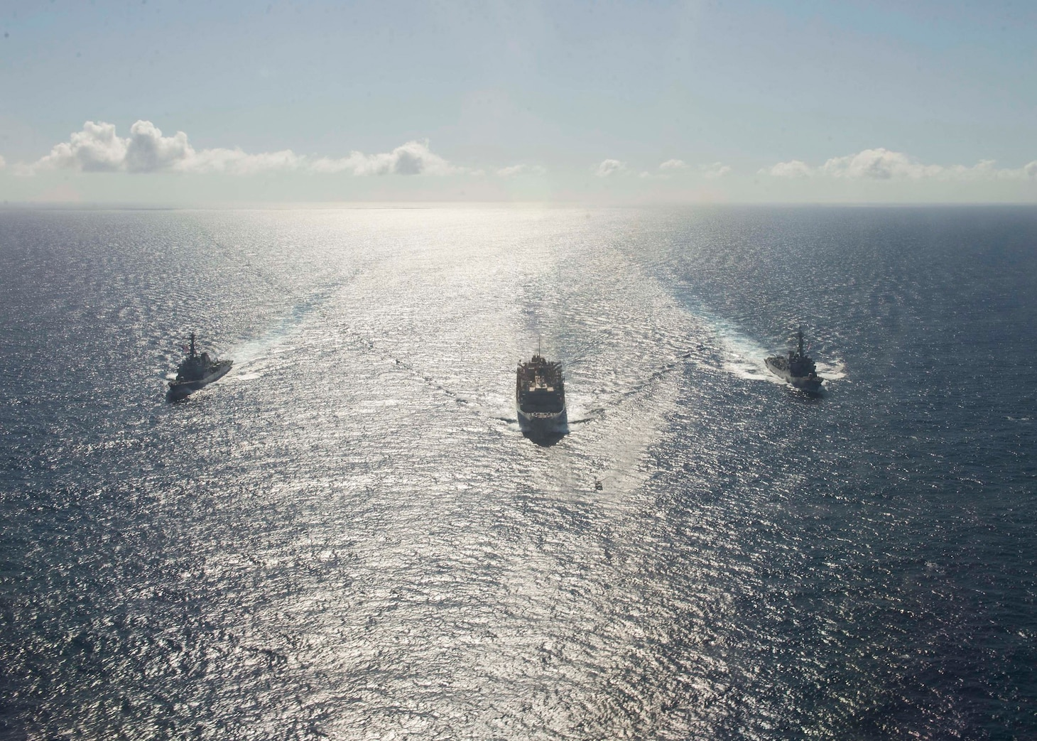 USS Porter, USS Roosevelt, USNS Supply sail in formation