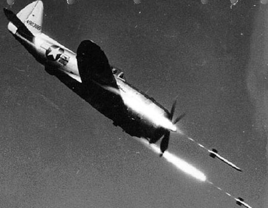 P-47 Thunderbolt flying