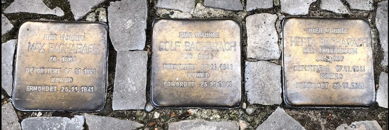 The Stolpersteine are mini memorials the victims of the Holocaust all around Germany. Each of the small monuments is engraved by hand without the use of mechanized processes. (Courtesy photo)