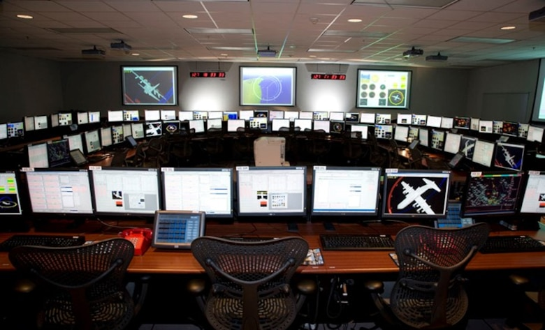 A mission control room inside the Ridley Mission Control Center is shown before planned upgrades take effect at Edwards Air Force Base, California. (Courtesy file photo)