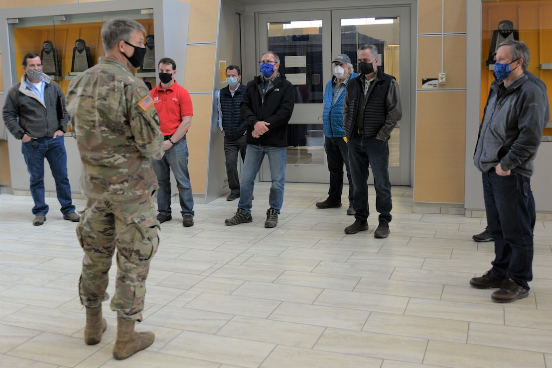 BG Thomas Tickner Visits USACE Alaska District's Alternate Care Facility