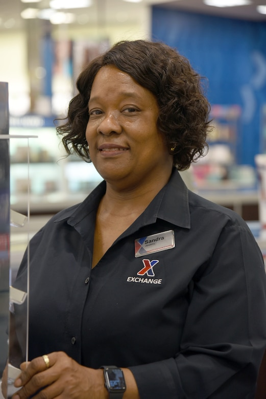 Sandra Brown is a jewelry associate at the Tinker Exchange and has worked on base for almost 25 years. Originally from Bossier City, Louisiana, Brown calls Midwest City her home. She enjoys church, reading her Bible, shopping and spending time with family and working with her co-workers.