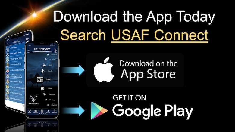 These slides describe how to add 30th Space Wing on the AF Connect app