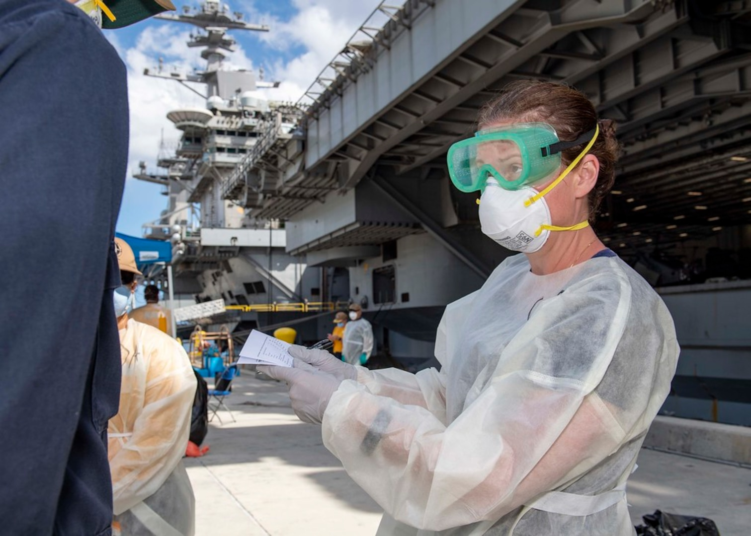 Theodore Roosevelt Sailors volunteer to support public health outbreak investigation