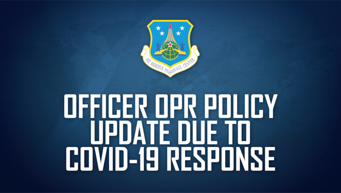 Officer OPR policy update due to COVID-19 response